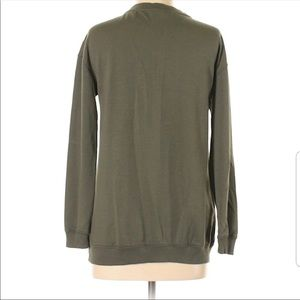 Mossimo Supply Co. Tops - Army Green Lace Up Sweatshirt